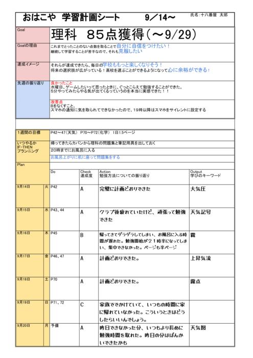 学習計画表.xlsx - 9_14 のコピー (3)-1